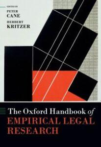 Ebook in inglese Oxford Handbook of Empirical Legal Research