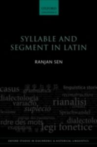 Ebook in inglese Syllable and Segment in Latin Sen, Ranjan