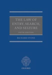 Ebook in inglese Law of Entry, Search, and Seizure Stone, Richard