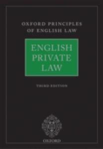 Foto Cover di English Private Law, Ebook inglese di  edito da OUP Oxford