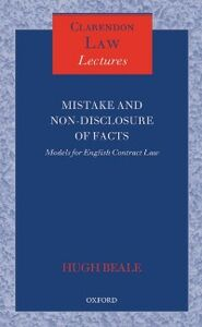 Ebook in inglese Mistake and Non-Disclosure of Fact: Models for English Contract Law Beale QC FBA, Hugh