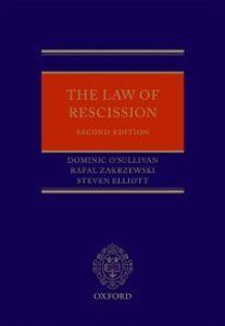 Ebook in inglese Law of Rescission Elliott, Steven , O'Sullivan QC, Dominic , Zakrzewski, Rafal