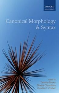 Foto Cover di Canonical Morphology and Syntax, Ebook inglese di  edito da OUP Oxford