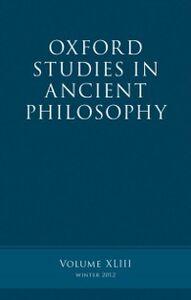 Foto Cover di Oxford Studies in Ancient Philosophy, Volume 43, Ebook inglese di  edito da OUP Oxford