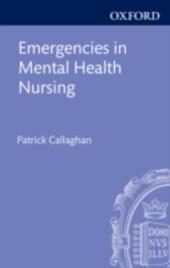 Emergencies in Mental Health Nursing