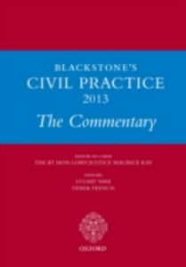 Ebook in inglese Blackstone's Civil Practice 2013: The Commentary -, -