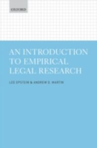 Ebook in inglese Introduction to Empirical Legal Research Epstein, Lee , Martin, Andrew D.