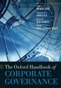 Ebook in inglese Oxford Handbook of Corporate Governance