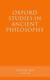 Oxford Studies in Ancient Philosophy, Volume 42