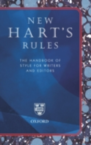 Ebook in inglese New Hart's Rules: The Handbook of Style for Writers and Editors Ritter, R..M