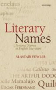 Ebook in inglese Literary Names: Personal Names in English Literature Fowler, Alastair