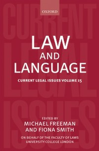 Ebook in inglese Law and Language: Current Legal Issues Volume 15 -, -