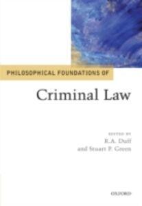 Foto Cover di Philosophical Foundations of Criminal Law, Ebook inglese di  edito da OUP Oxford