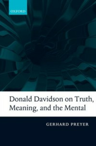 Ebook in inglese Donald Davidson on Truth, Meaning, and the Mental Preyer, Gerhard