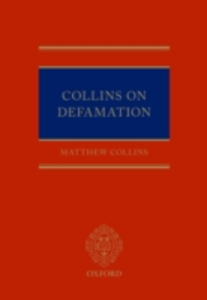 Ebook in inglese Collins On Defamation Collins, Matthew