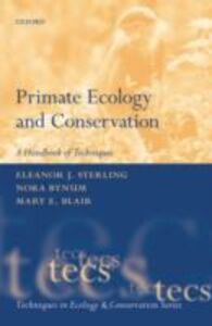Ebook in inglese Primate Ecology and Conservation