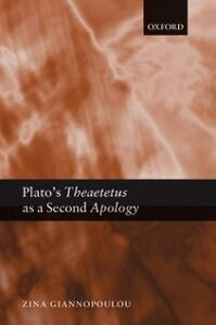 Ebook in inglese Plato's Theaetetus as a Second Apology Giannopoulou, Zina