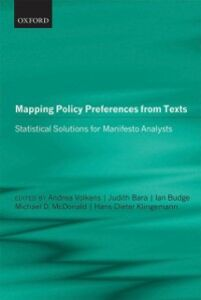 Ebook in inglese Mapping Policy Preferences from Texts: Statistical Solutions for Manifesto Analysts -, -
