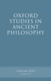 Oxford Studies in Ancient Philosophy, Volume 44
