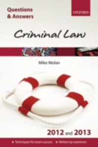 Ebook in inglese Q & A Revision Guide: Criminal Law 2012 and 2013 Molan, Mike