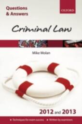Q & A Revision Guide: Criminal Law 2012 and 2013