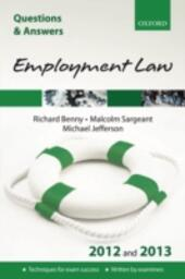 Q & A Revision Guide: Employment Law 2012 and 2013