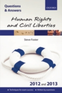 Ebook in inglese Q & A Revision Guide: Human Rights and Civil Liberties 2012 and 2013 Foster, Steve