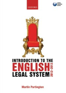 Ebook in inglese Introduction to the English Legal System 2012-2013 Partington, Martin