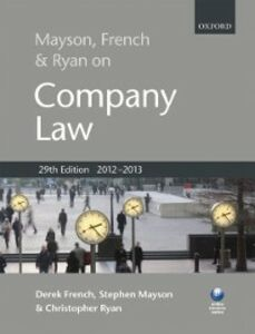 Ebook in inglese Mayson, French & Ryan on Company Law French, Derek , Mayson, Stephen , Ryan, Christopher