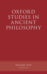 Foto Cover di Oxford Studies in Ancient Philosophy, Volume 45, Ebook inglese di  edito da OUP Oxford