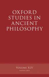 Oxford Studies in Ancient Philosophy, Volume 45