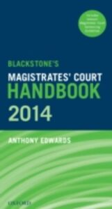 Ebook in inglese Blackstone's Magistrates' Court Handbook 2014 Edwards, Anthony