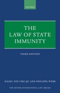 Ebook in inglese Law of State Immunity Fox, QC, Hazel , Webb, Philippa