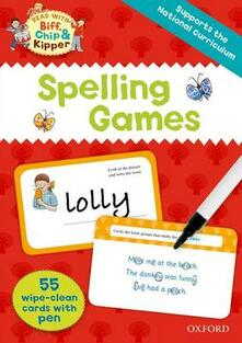 Oxford Reading Tree Read with Biff, Chip and Kipper: Spelling Games Flashcards - Roderick Hunt,Annemarie Young - cover