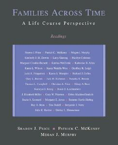 Families Across Time: A Life Course Perspective: Readings - Sharon J Price,Patrick C McKenry,Megan J Murphy - cover