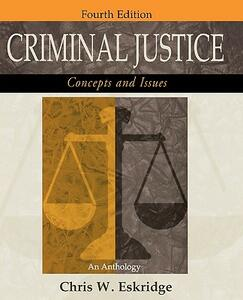 Criminal Justice: Concepts and Issues: An Anthology - cover