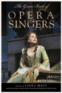 The Grove Book of Opera Singers - cover