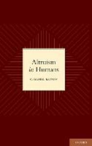 Altruism in Humans - C. Daniel Batson - cover