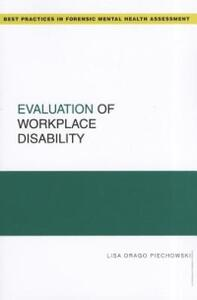 Evaluation of Workplace Disability - Lisa Drago Piechowski - cover