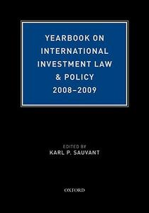 Yearbook on International Investment Law & Policy 2008-2009 - Karl P. Sauvant - cover