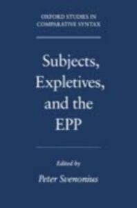 Ebook in inglese Subjects, Expletives, and the EPP Svenonius, Peter