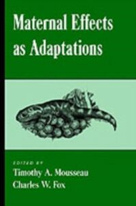 Ebook in inglese Maternal Effects As Adaptations -, -