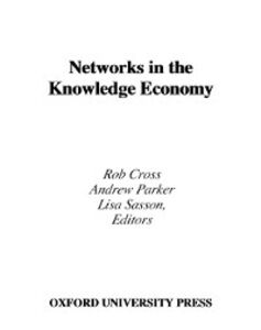 Ebook in inglese Networks in the Knowledge Economy