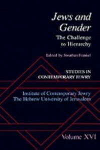 Ebook in inglese Jews and Gender: The Challenge to Hierarchy -, -