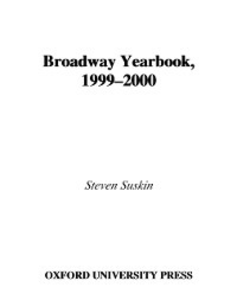 Ebook in inglese Broadway Yearbook, 1999-2000: A Relevant and Irreverent Record Suskin, Steven