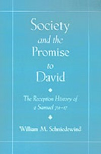 Ebook in inglese Society and the Promise to David: The Reception History of 2 Samuel 7:1-17 Schniedewind, William M.