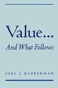 Ebook in inglese Value... and What Follows Kupperman, Joel J.