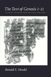 Text of Genesis 1-11: Textual Studies and Critical Edition