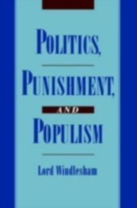 Ebook in inglese Politics, Punishment, and Populism Windlesham