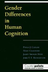 Ebook in inglese Gender Differences in Human Cognition Caplan, Paula J. , Crawford, Mary , Hyde, Janet Shibley , Richardson, John T. E.